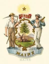 State Of Maine Flag File Maine State Coat Of Arms Illustrated 1876 Jpg Wikipedia