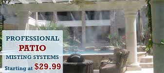 Build Your Own Patio Misting System Misting Systems Outdoor Cooling Mist Cooling System Houston Texas Us