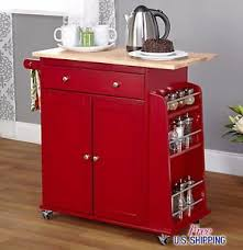 red kitchen cart island red kitchen cart island rolling storage utility cabinet wood