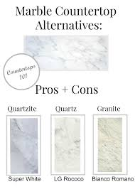 marble countertop alternatives pros cons countertop