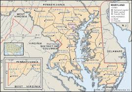 maryland map state and county maps of maryland