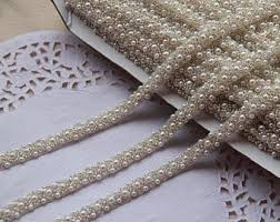 pearl lace pearl lace trim etsy