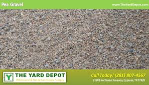 Backyard Pebble Gravel Sand U0026 Gravel The Yard Depot In Cypress Wholesale Landscape