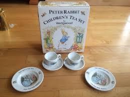 beatrix potter tea set wedgwood beatrix potter rabbit children s tea set in st