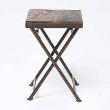 Reclaimed Wood Side Table Reclaimed Wood Stool Side Table