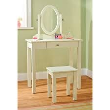 childs vanity table simple wooden vanity table with mirror and stool with white color