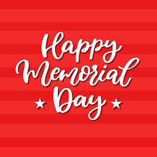 memorial day vector hand lettering american national holiday