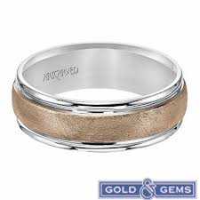 gold mens wedding band 11 wv7470wr 14k white and gold mens wedding band from