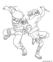 coloring pages anime naruto and sasuke1345 coloring pages printable