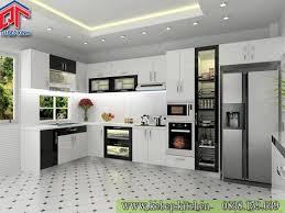 interior designing for kitchen tủ bếp gỗ acrylic màu trắng đen cá tính edu12a nterior e