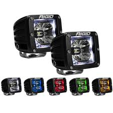 rigid industries led driving lights industries led pod light radiance with backlight pair