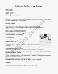Victim Witness Advocate Resume Evidence Technician Cover Letter