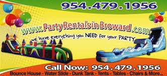 party rentals in party rentals in brodward county bounce house rental broward