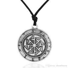 vintage black pendant necklace images Wholesale vintage design russian sun talisman power antique slavic jpg