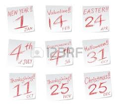 icons with date of calendar new year s day