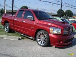 2006 inferno red crystal pearl dodge ram 1500 srt 10 quad cab