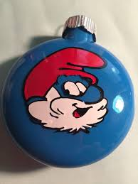 papa smurf ornament silhouette and cricut creations