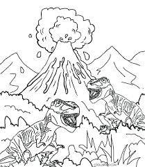 coloring pages volcano dinosaurs coloring pages free dinosaur coloring pages printable