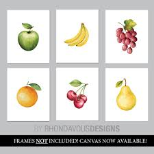 watercolor fruit art kitchen decor kitchen signs kitchen art