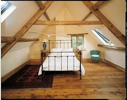 Loft Style Bed Frame Bedroom Exposed Beam Ceiling For Country Style Loft Bedroom
