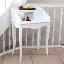 Kleiner Schreibtisch Holz Kleiner Sekretär Marie Weiß Im Landhausstil Schreibtisch Mit 4