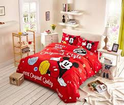 Mickey And Minnie Comforter Red Mickey Mouse Bedding Cheap Comforters Bedding Pinterest