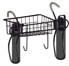 amazon com gearup 2 bike vertical wall mount with basket black