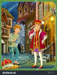 prince pauper prince princess castles knights stock illustration