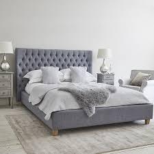 kensington bed grey linen super king brissi