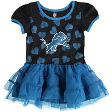 girls toddler detroit lions black blue love to dance tutu dress