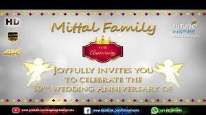50th wedding anniversary premium invitation video om prakash