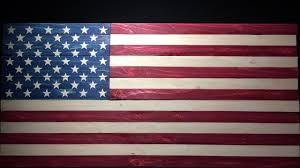 Single Flag U S Flag Made From A Single 2x4 Youtube