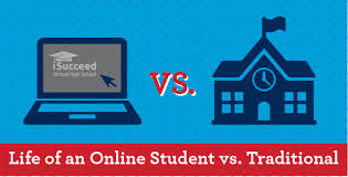 is online high school of an online high school student vs the traditional student