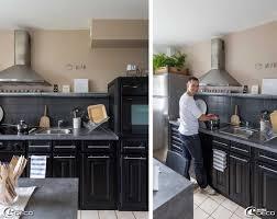 cuisine repeinte en noir charmant cuisine repeinte en gris avec cuisine bois repeinte