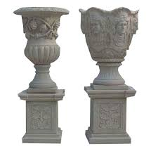 80cm marble carving flower pot garden ornaments flowerpot