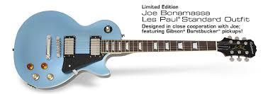 light blue gibson les paul epiphone joe bonamassa les paul standard pelham blue