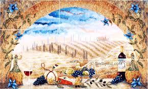 kitchen italian tile murals tuscany backsplash tiles kitchen uk