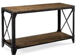 reclaimed barn wood sofa table with turned legs alley cat themes