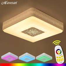 Changing Ceiling Light Aliexpress Buy Led Sitting Room Ceiling Lights Square