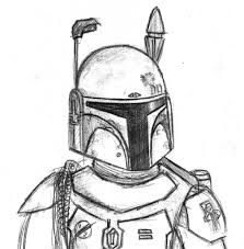boba fett drawing boba fett coloring pages getcoloringpages
