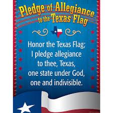 Texas Flag Image Pledge Of Allegiance To The Texas Flag Chart Tcr7587 Teacher