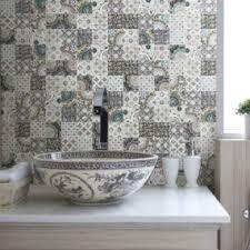 Top  Patchwork Tile Backsplash Designs For Kitchen - Country kitchen tile backsplash