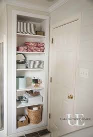Built In Bathroom Cabinets Diy Built In Shelving For My Bathroom Elegance