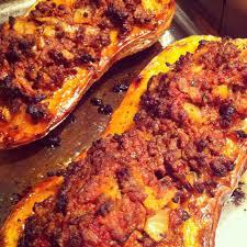cuisiner les butternuts spicy mince butternut squash courge farcie à la viande hachée