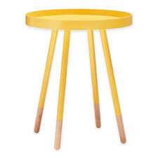 Yellow Accent Table Buy Snack Tables From Bed Bath U0026 Beyond