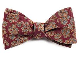 floral bowtie burgundy intellect floral bow tie ties bow ties and pocket