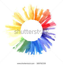 handmade color wheel watercolor illustration colorful stock