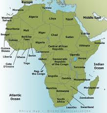 africa map 54 countries africa map