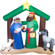 gemmy airblown inflatables christmas inflatable 7 u0027 holy family