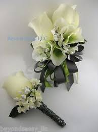 boutonniere flower green gray wedding prom flower wrist pin on corsage